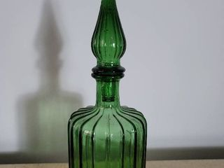Ribbed Green Genie Bottle