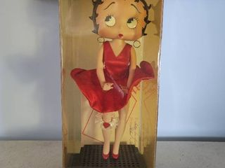 Betty Boop Porcelain Doll stands 16 in Tall Excellent Condition like N E W