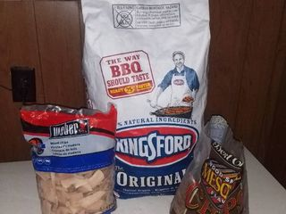 15 lb Bag of Kingsford Charcoal and Weber Wood Chips