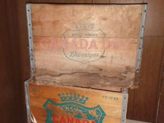 2 Vintage Wood Canada Dry Boxes No Bottoms