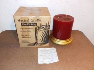 Musical Candle Plays My Heart Will Go On