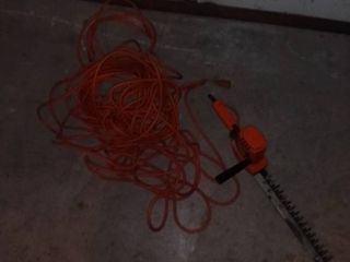 Heavy Duty Extension Cord and Black and Decker Hedge Trimmer