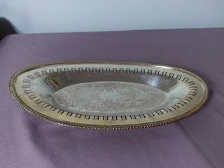 Silver Plated W M  A Rogers Decorative Platter
