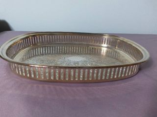 W M  A Rogers Silver Plated Decorative Serving Platter