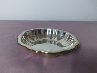 W M  A Rogers Small Decorative Plate with Wavy Edges