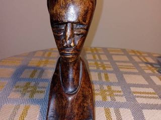 Nice Carved Wooden Bust Of A Tribal Woman