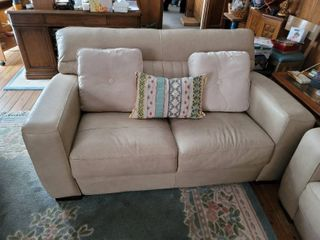 Genuine leather loveseat   No Rips No Tares
