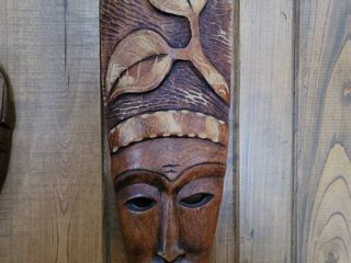 Hand Carved Wooden Chief Headdress Mask