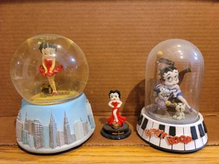 lot of 3 Betty Boop Collectibles  Globe  Bourbon St  MGM Figurine