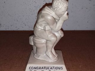 Congratulations On Your New Position Humor Statue Wallace Russ Berries 1968