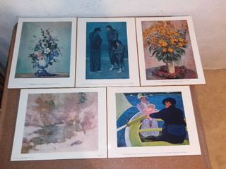 Five Impressionist Artist Wall Hangings