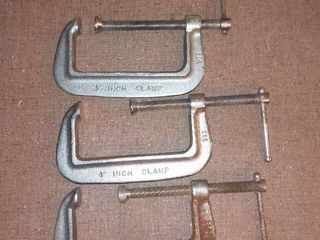 Three 4 Inch Clamps