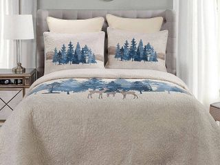 Donna Sharp Watercolor Forest UCC Quilt Set  Retail 190 00 king