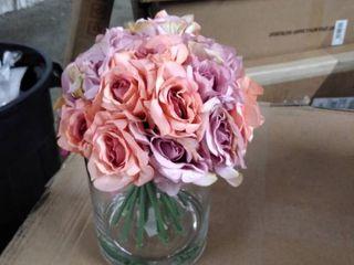 WGV International Cylinder Glass Vase with flowers