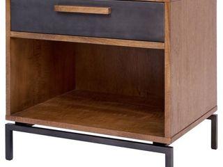 Bellevue Black Brown Wooden 3 drawer Chest  Retail 592 47