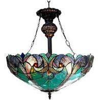 Chloe Tiffany style Victorian Design 2 light Inverted Pendant  Retail 168 99