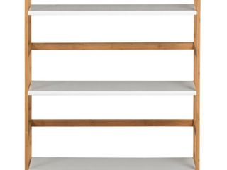 3 Tier Solid Bamboo Frame Bookshelf
