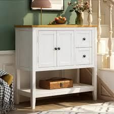 Art leon 36  Modern Storage Solid Wood Side Board with Shelf  Retail 328 49