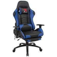 COlAMY Massage lumbar Gaming Chair w Footrest  Retail 217 99
