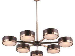 Madison 7 light Bronze Mid Century Modern Chandelier   35 5 in W x 20 25 in H x 34 75 in D  Retail 654 00