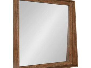 Kate and laurel Basking Wall Mirror with Shelf   Brown  Retail 199 49