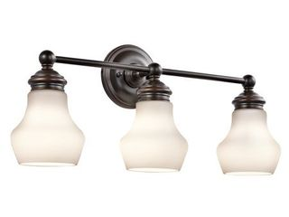 Kichler lighting Currituck Collection 3 light Oil Rubbed Bronze Bath Vanity light  Retail 184 00