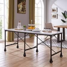 Carbon loft Elisgner Industrial Black Metal 29 inch Kitchen Island Table  Retail 349 99