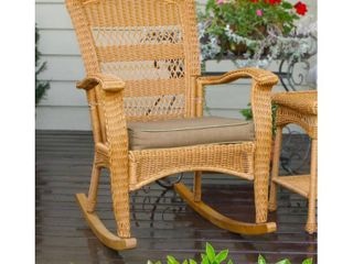 Tortuga Outdoor Plantation Southwest Amber Rocking Chair  Retail 249 99