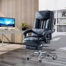 High Back Adjustable Managerial Home Desk Chair  Retail 439 99 black
