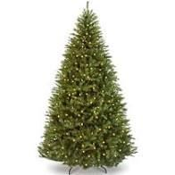 9 ft  Pre lit Artificial Christmas Tree Holiday Decor with lights and Stand  Retail 204 49