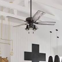 The Gray Barn Kedelston 52 inch Coastal Indoor lED Ceiling Fan with Pull Chains 5 Reversible Blades   52  Retail 174 99 bronze