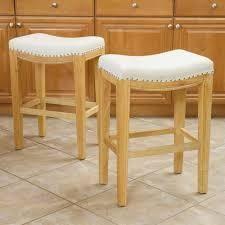 Avondale bonded leather bar stools beige set of 2