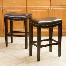 Avondale bonded leather bar stools set of 2 brown