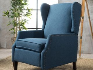 Wescott Wingback Fabric Recliner Club Chair by Christopher Knight Home  Retail 309 99