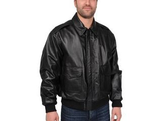 Excelled Men s Big and Tall  A 2  Classic leather Bomber Jacket  Retail 195 49