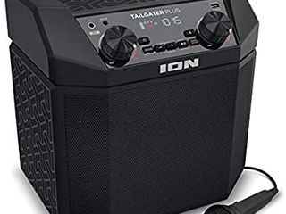 RETAIlS FOR 349 99 ION Audio Tailgater Plus   50W Portable Outdoor Wireless Bluetooth Speaker with 50 Hour Battery  Microphone  Radio and USB Charging