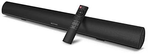 Soundbar  Bestisan Sound bar with Strong Bass Wireless Bluetooth 5 0 Audio Speakers for TV 3D Stereo Surround  28 Inch  60W  DSP  Bass Adjustable Optical AUX RCA Wall Mountable