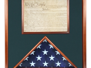 RETAIl AT  215 00 Folded Ceremonial Flag  3 x 5    Document Case  21a x 20a