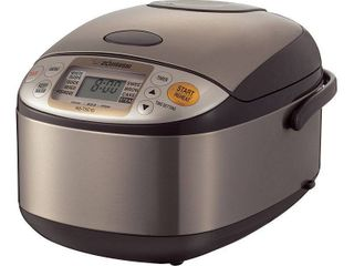 Zojirushi Micom 5 5 Cup Rice Cooker   Warmer with Steam Basket   Brown