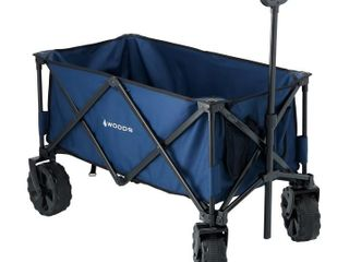 Woods Outdoor Collapsible Utility King Wagon   225 lb Capacity   Navy