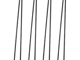 TCMT 28  Hairpin Table legs 2 Rod Heavy Duty Set Of 4 Solid Iron legs For Furniture Dining Coffee Table laptop Desk Bench with Screws I 3 8  Black