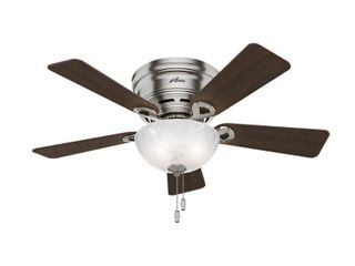 Hunter Haskell 42 in  low Profile Indoor Brushed Nickel Ceiling Fan
