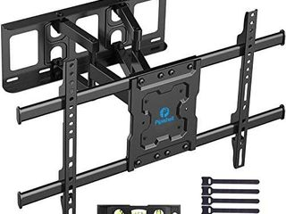Full Motion TV Wall Mount Bracket Dual Articulating Arms Swivels Tilts Rotation for Most 37 70 Inch lED  lCD  OlED Flat Curved TVs  Holds up to 132lbs  Max VESA 600x400mm by Pipishell