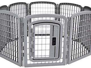 Amazon Basics 8 Panel Plastic Pet Pen Cage Playpen