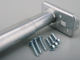 Knape and Vogt 72  to 96  Platinum Adjustable Closet Rod