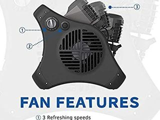 lasko 7050 Misto Outdoor Misting Fan   Features Cooling Misters  Ideal for Camping  Patios  Picnics    more