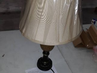 25 in Bronze Rotary Socket Table lamp with Fabric Shade