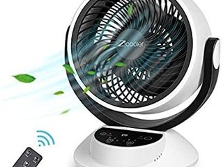 ZICOOlER Air Circulator Fan  Quiet Cooling Fan Air Circulator with Remote Control  Quiet Nature Air Cooling Fan  Portable Air Conditioner for Home Bedroom Office  Easy to Install and Use