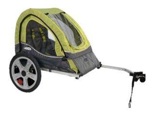 InStep Sync Single Child Bike Trailer   Green Grey