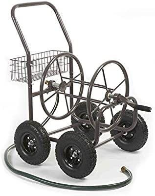 liberty Garden Residential Grade 4 Wheel 871 M1 1 Garden Hose Reel Cart  Bronze